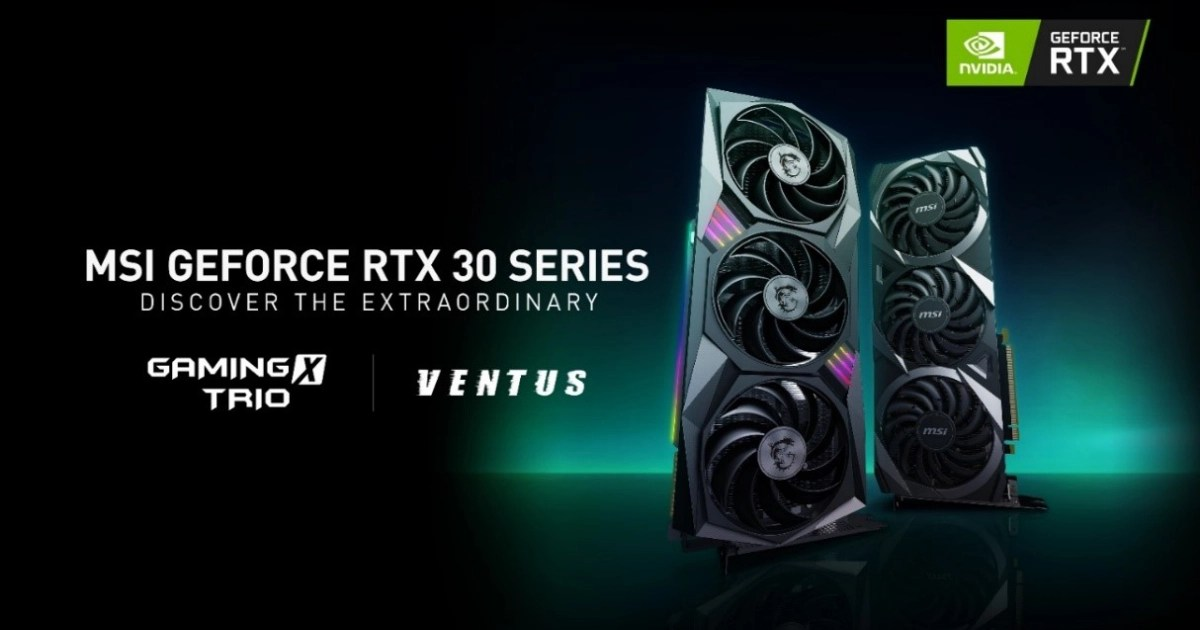 MSIがグラフィックスカード「VENTUSシリーズ」と「GAMINGシリーズ」でNVIDIA GeForce RTX 30シリーズを発表!