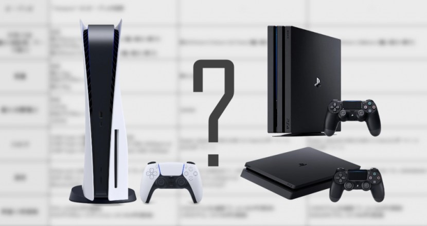 Comparison of PS5, PS4 Pro and PS4