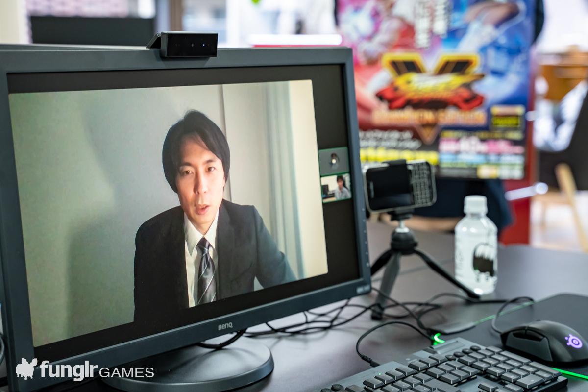 Discordでインタビューを受ける綾野プロデューサー
