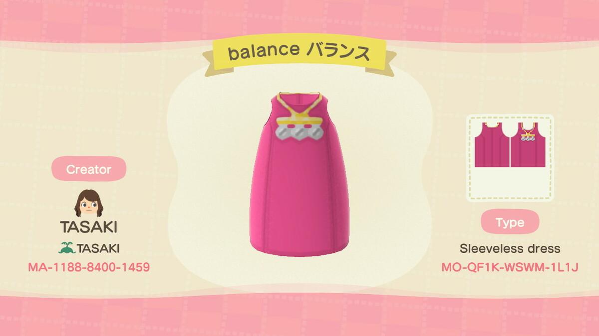 balance 無袖連身裙