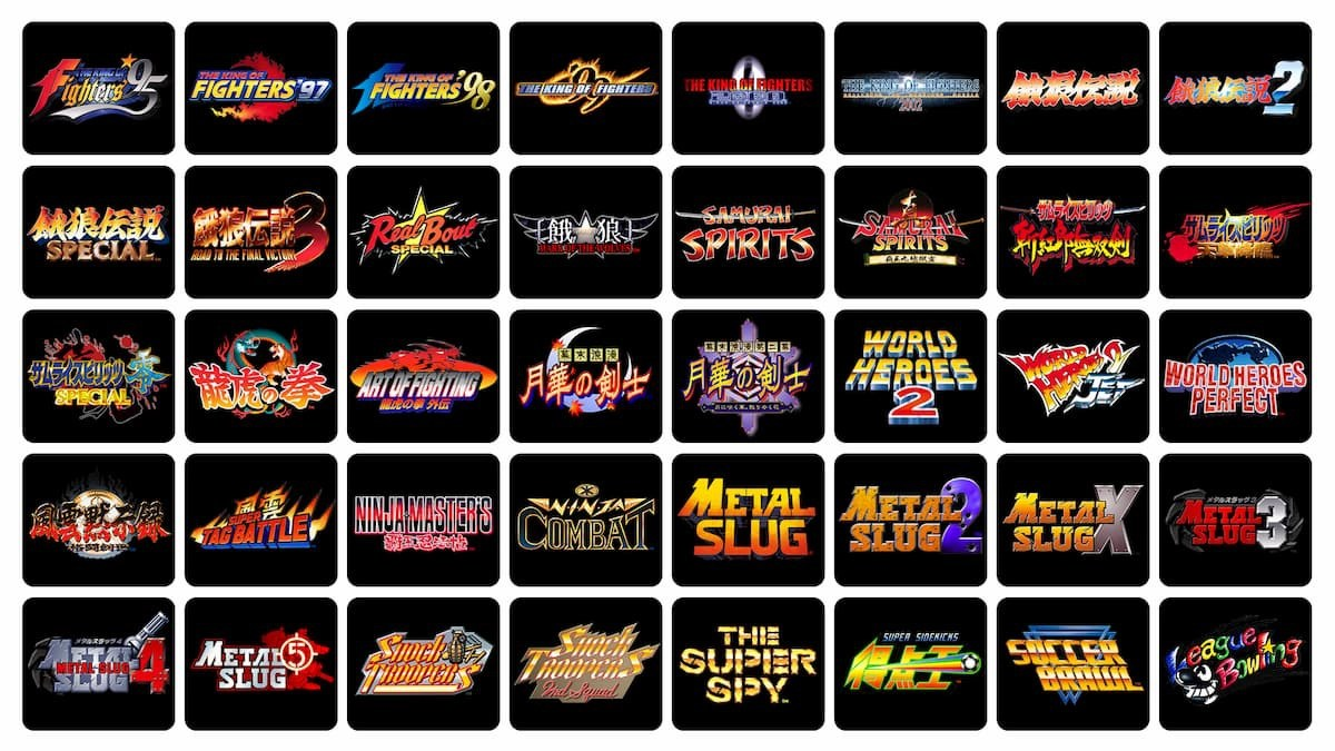 「NEOGEO Arcade Stick Pro」クリスマス限定セット 収録ゲームタイトル