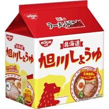 日清食品 ラーメン屋さん 旭川しょうゆ 5食パック 445g×6パック