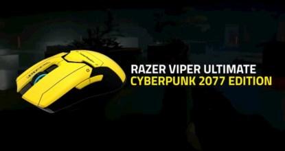 電馭叛客2077版本的電競滑鼠《Razer Viper Ultimate》發售決定!