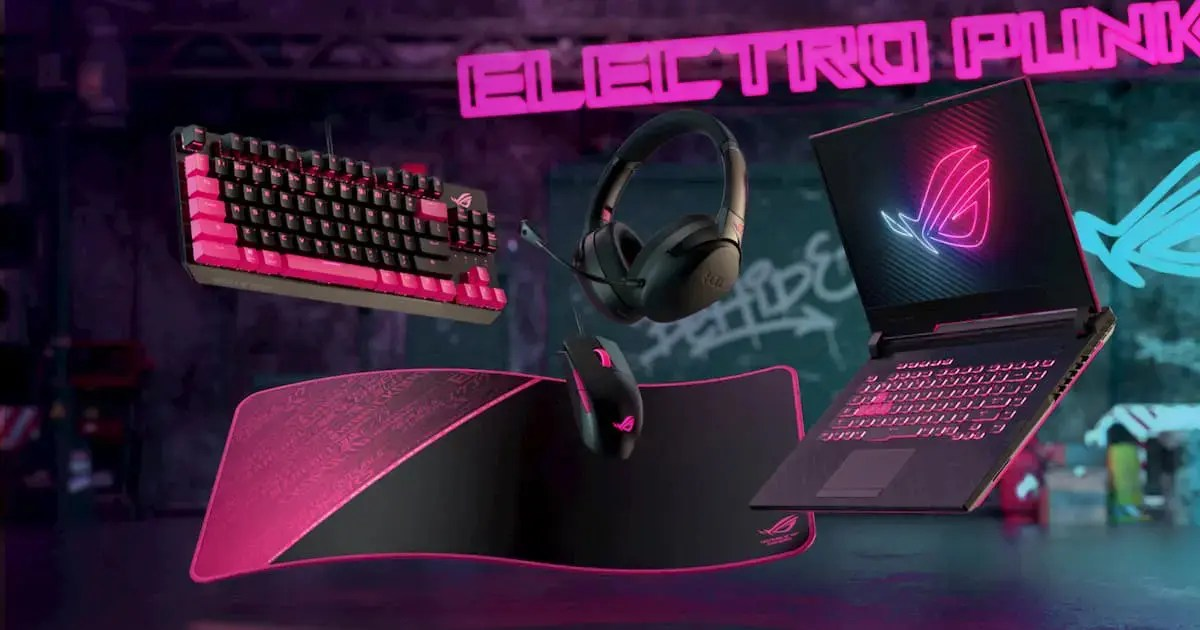 ROGの人気製品にブラック&ピンクが特徴的な「Electro Punk」デザインが登場