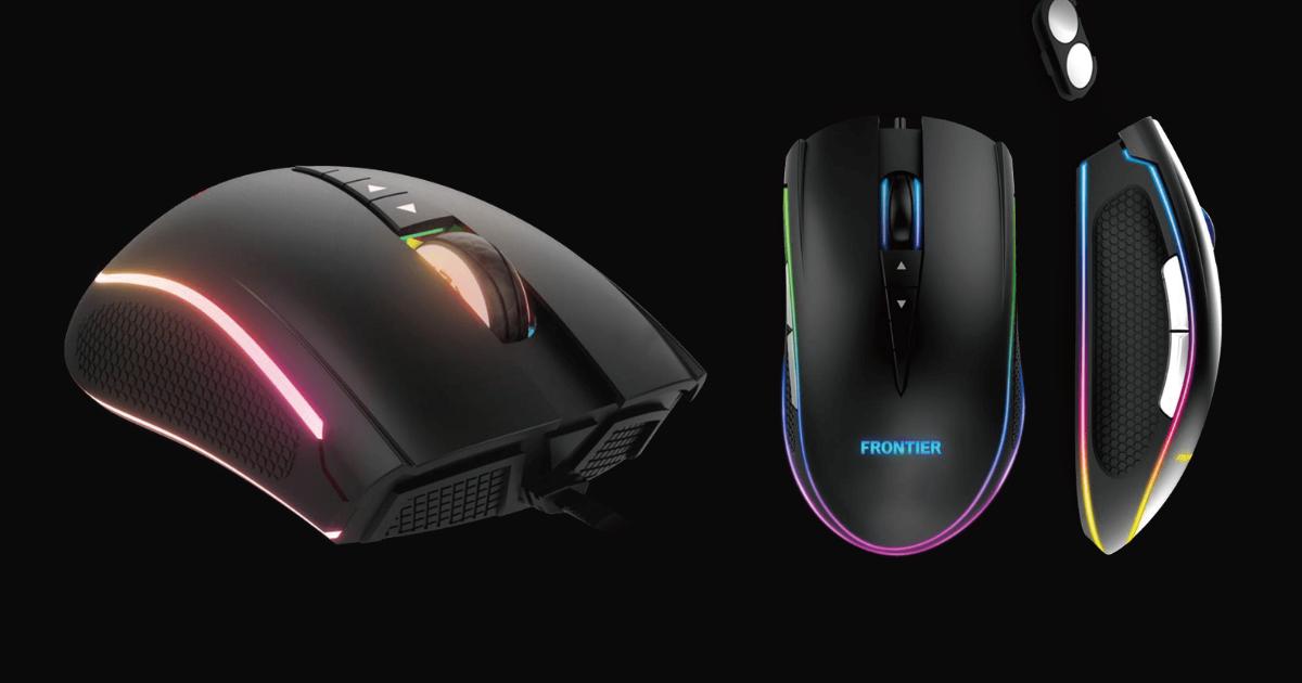 コスパに優れた光るゲーミングマウス「FRONTIERゲーミングマウス GM-S1B」発売開始