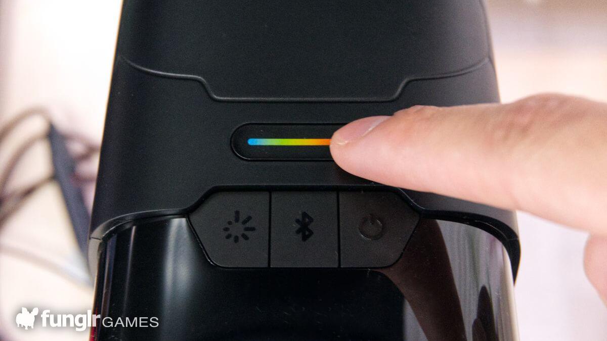 上部のボタンでライティングを変更可能
