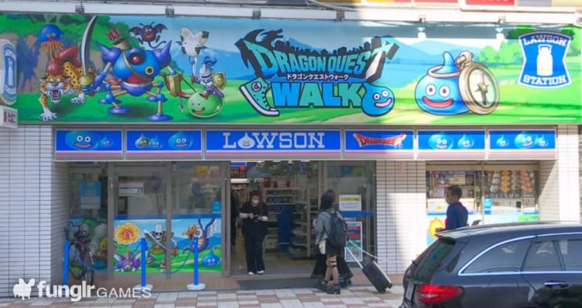 ドラクエウォークがローソンをジャック!大阪の「ローソン日本橋なんさん通り店」へガンガンいこうぜ!