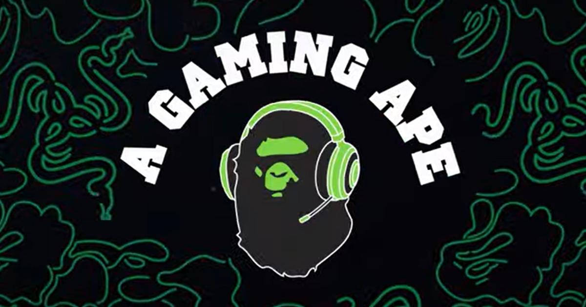 BAPEがRazerとコラボ?!BathingではなくA Gaming APEなティザー映像&公式サイト公開!
