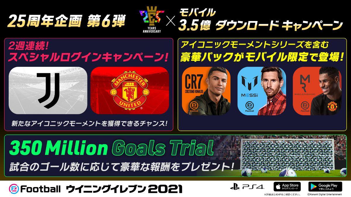 25th Anniversary x Mobile 350 Million Downloads Campaign