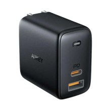 AUKEY 最軽量 GaN 65W USB-C急速充電器  ノートPC ゲーム機充電可能