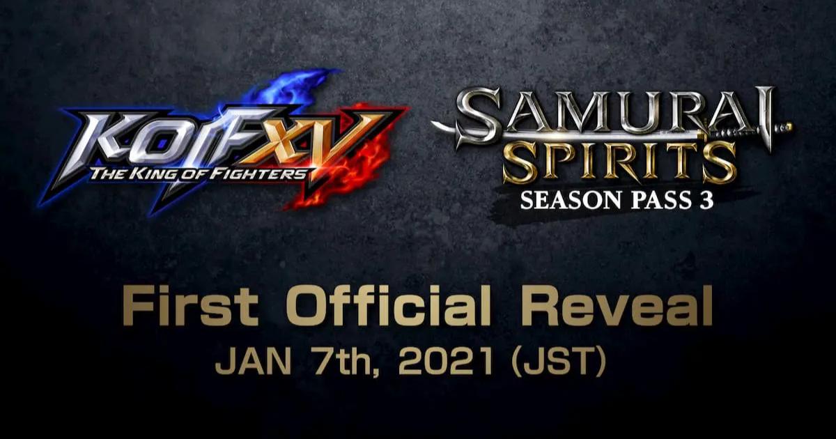 シリーズ最新作KOF XVトレーラー & サムスピシーズンパス3の情報を2021年1月に公開決定!