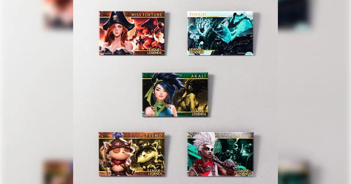 League of Legends トレーディングバトルメモリアル缶バッジ