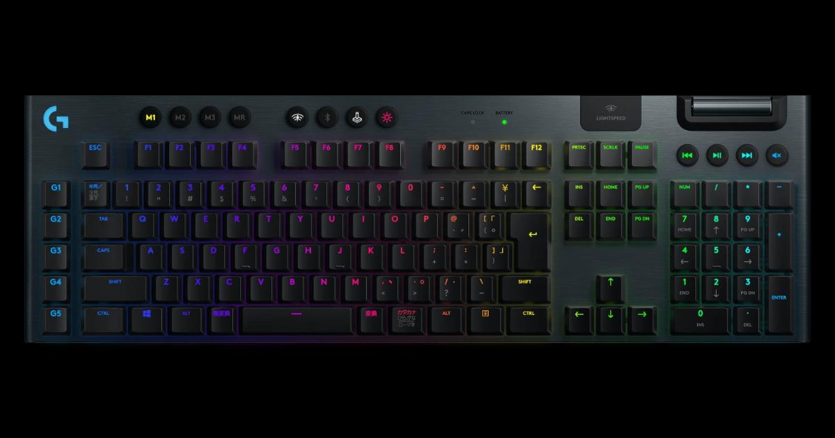 薄型ワイヤレスキーボード「G913」