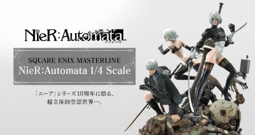 1/4サイズの超精密フィギュア「SQUARE ENIX MASTERLINE NieR:Automata」予約受付開始!