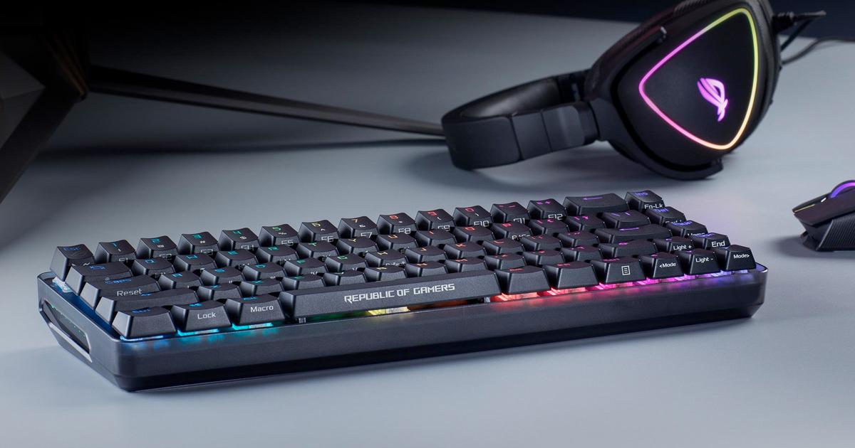 華碩發表可同時對應有線與無線的小巧尺寸電競鍵盤「ROG Falchion」
