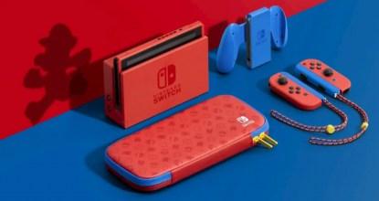 「Nintendo Switch 瑪利歐亮麗紅×亮麗藍 主機組合」港台2月12日發售確定!