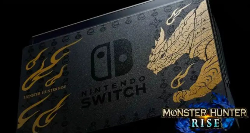 「Nintendo Switch MONSTER HUNTER RISE 特別版」登場!並且推出同款設計Pro控制器!