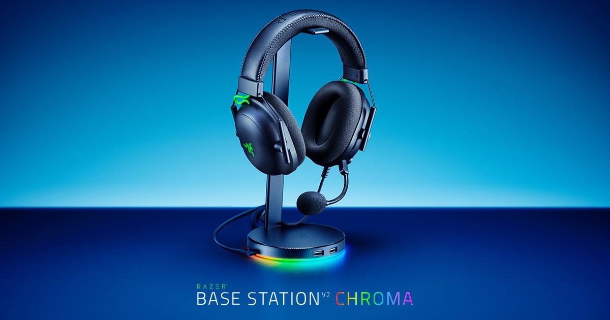 光る上にサウンドも良くなるヘッドホンスタンド型USBハブ「Razer Base Station V2 Chroma」が日本国内3色展開決定!