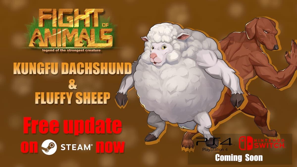 Arenaから逆輸入!Fight of Animalsにカンフーダックスフンド&ふわふわ羊が参戦!