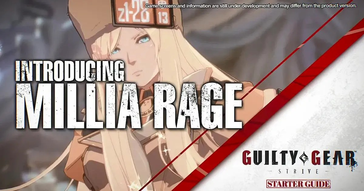 「GUILTY GEAR -STRIVE-」初心者指導影片依序公開!首發影片主角是MILLIA!