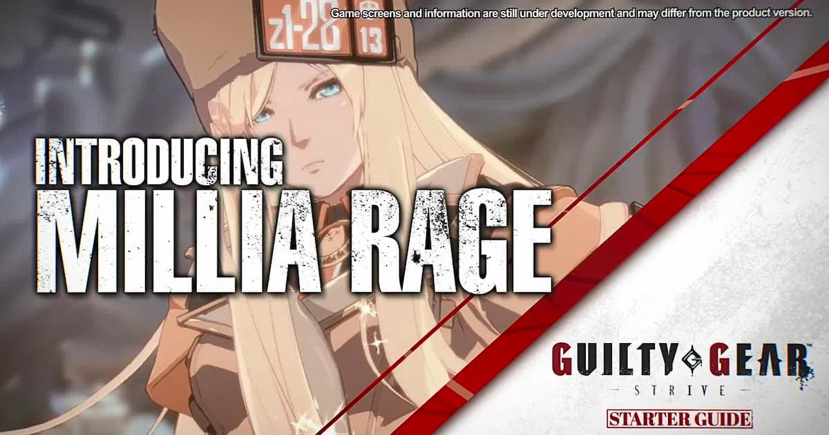 「GUILTY GEAR -STRIVE-」スターターガイド動画が順次公開!第1弾はミリア!
