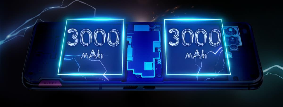 6,000mAhバッテリー