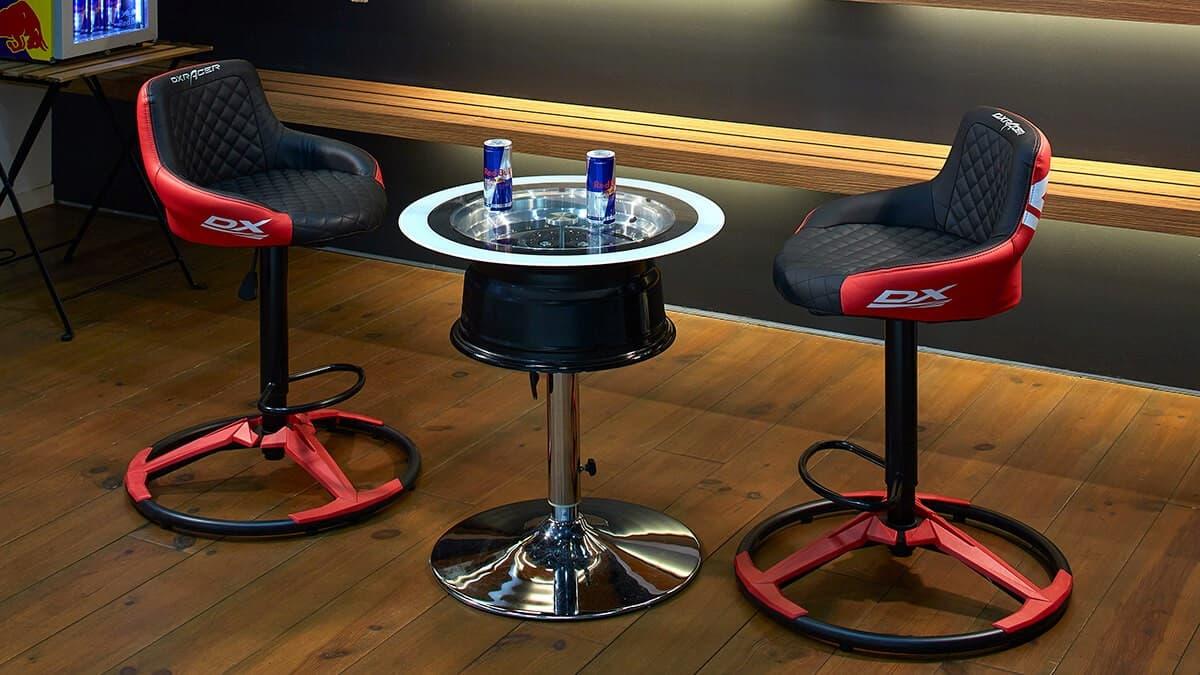 休憩にも至高の座り心地を。DXRACER「バーカウンターチェア for e-Sports CB-01RD」発表!