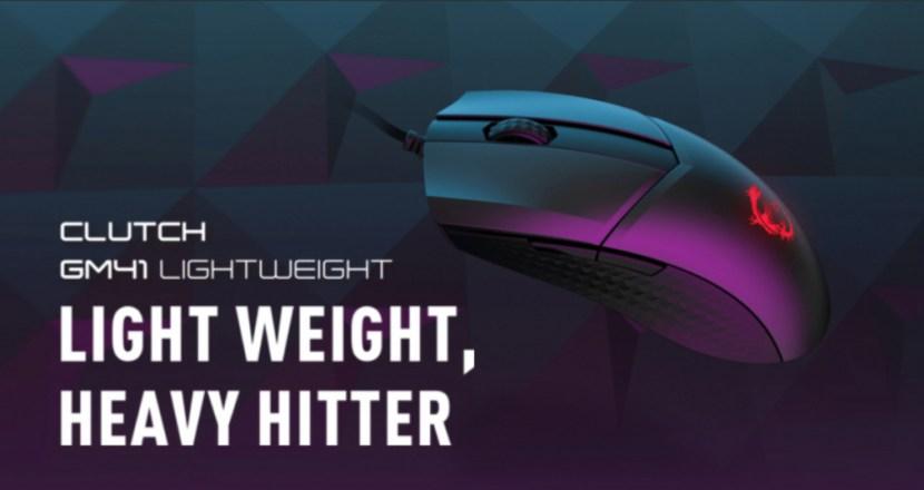 MSI推出重量僅約65克超輕量電競滑鼠「 CLUTCH GM41 LIGHT WEIGHT」!並於3月12日起開始發售!
