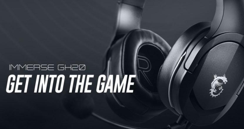 MSIから約245グラムの超軽量ゲーミングヘッドセット「IMMERSE GH20」が2021年3月12日(金)に発売!