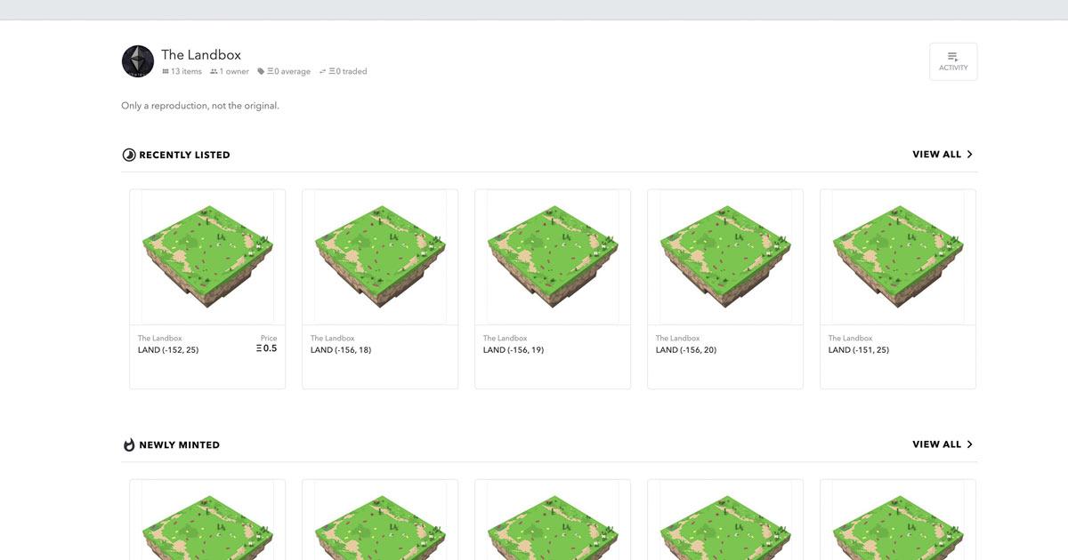 【注意喚起】NFTマーケットプレイスOpenSeaでThe Sandboxを偽ったニセ「LAND」が販売される