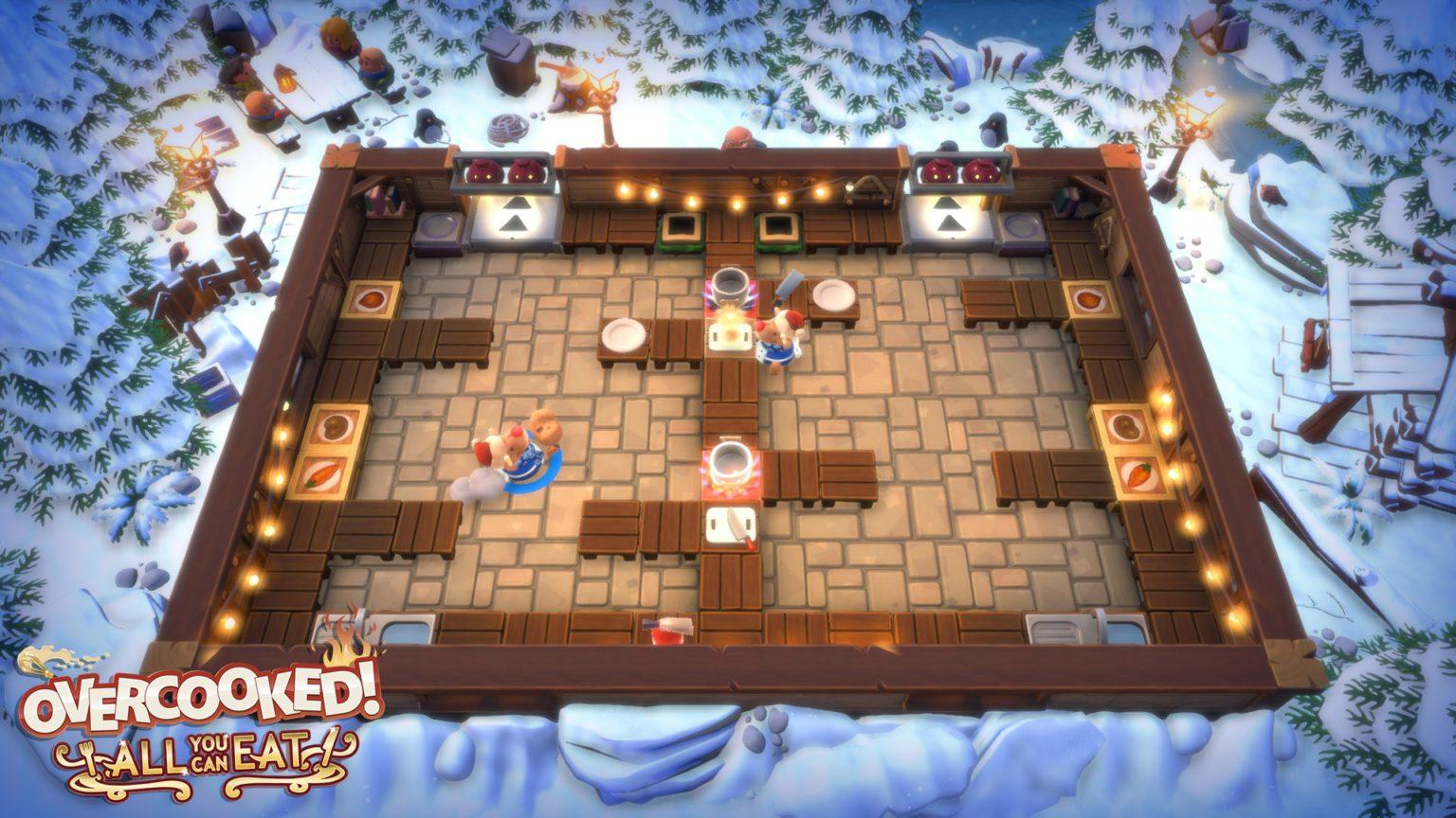 「オーバークック 王国のフルコース」ゲームプレイ