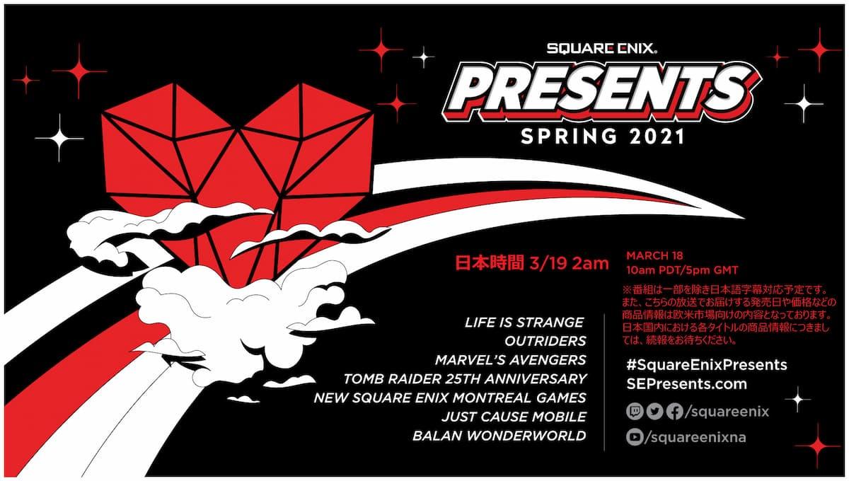 「Life is Strange」の新作も!スクエニの最新情報が公開される「SQUARE ENIX PRESENTS SPRING 2021」が放送決定!