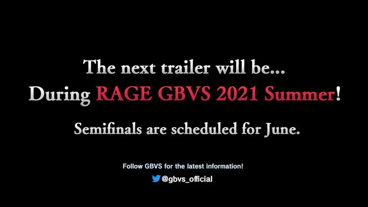 The next trailer will be...