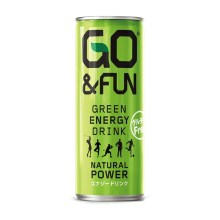 GO&FUN GREEN ENERGY DRINK (ゴーアンドファン グリーン エナジードリンク) 250ml×30本