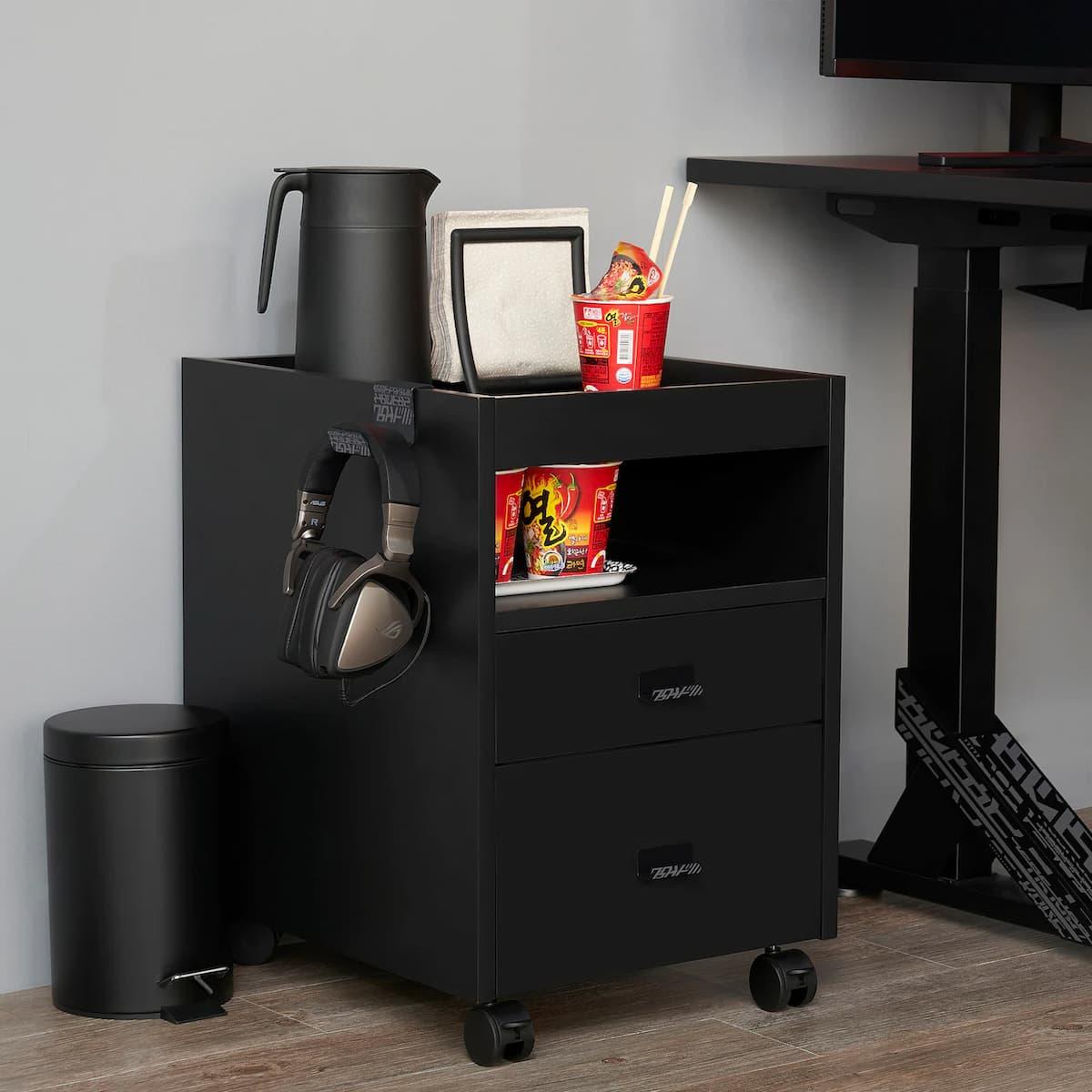 UPPSPEL drawer unit on castors(Black)