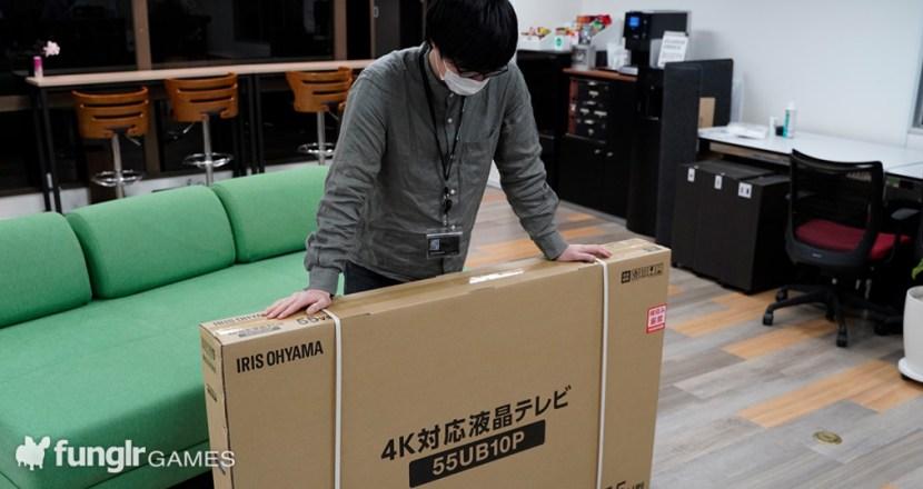 アイリスオーヤマの4K対応テレビ55インチ「55UB10P」を組み立ててミーティングルームに導入してみた!