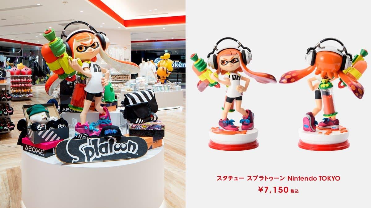 雕塑 斯普拉遁 Nintendo TOKYO