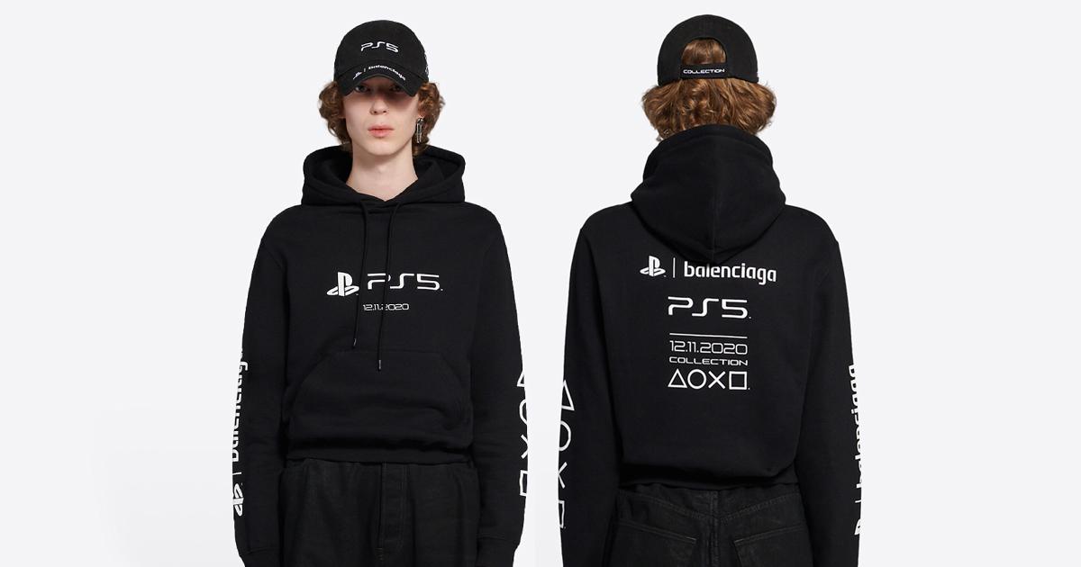 売り切れ注意!PS5 × BALENCIAGA!コラボデザインのTシャツとパーカーが販売開始!
