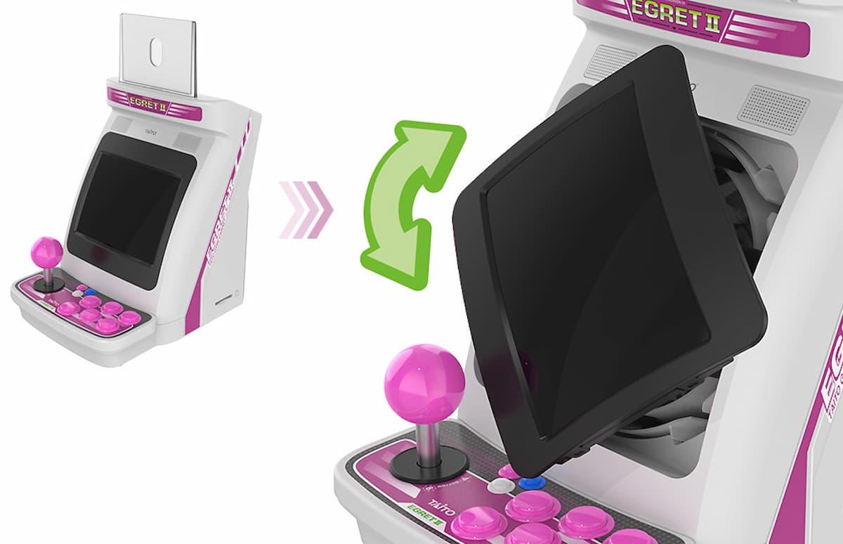 「EGRETⅡ mini」画面回転