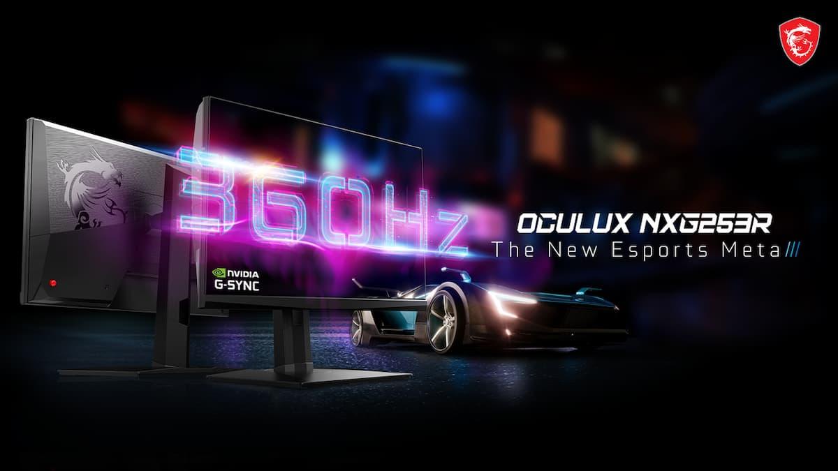 令人驚異的360Hz刷新率!MSI旗下新品牌的「Oculux NXG253R」電競螢幕即將在日本開賣!