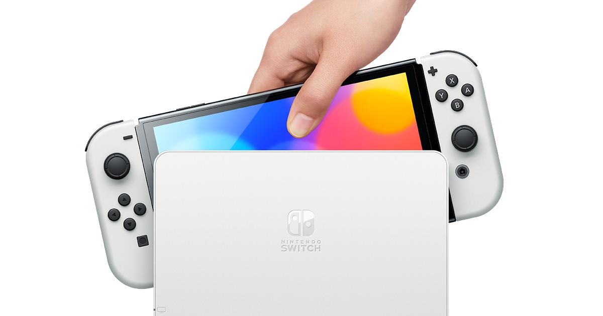 OLED版Nintendo Switch10月8日發售!可直連LAN線!也有新出白色!