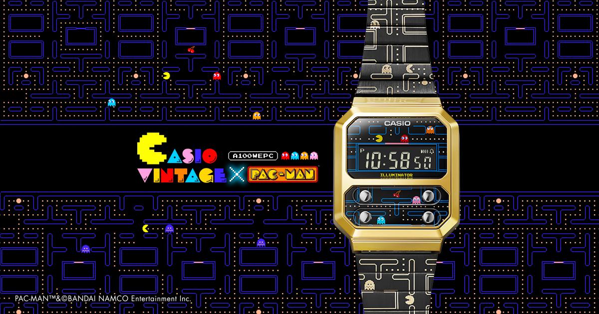 CASIO VINTAGE × PAC-MAN 復古又俏皮的電子錶登場!