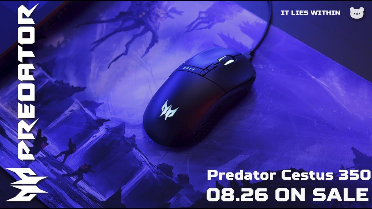 Acer Predatorより有線・ワイヤレス両用ゲーミングマウス「Predator Cestus 350」が8月26日に日本発売!