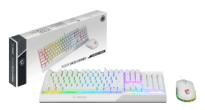 MSIからキーボードとマウスがセットになったエントリークラスのゲーミングデバイスセット「VIGOR GK30 COMBO WHITE JP」が発売!
