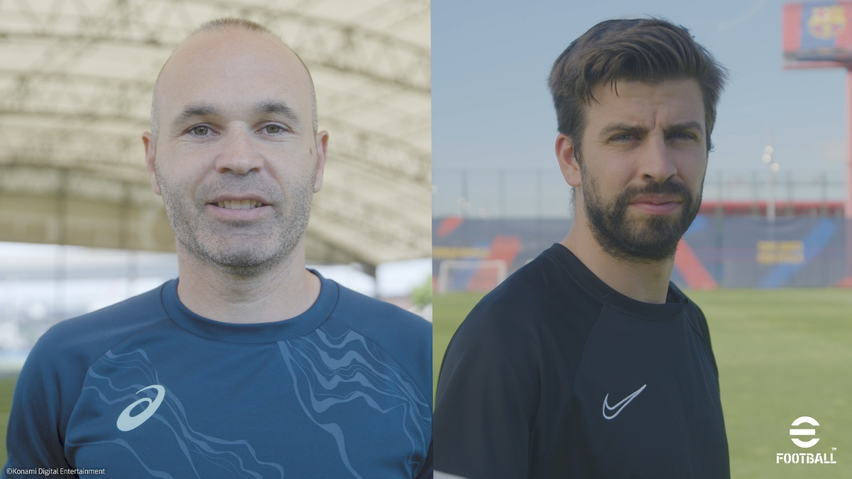 Iniesta選手和Piqué選手