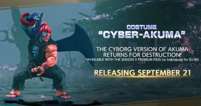 「Street Fighter VCE」9月21日更新!新增豪鬼新服裝「機器豪鬼」!