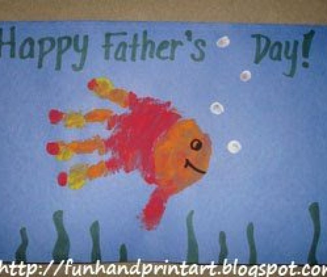 Adorable Handprint Fathers Day Card