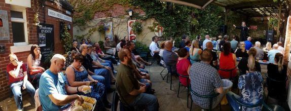 Sheffield Comedy Club at New Barrack Tavern - Crowd in Garden