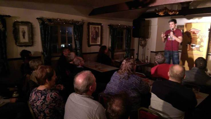 Wrexham Comedy Club at Nags Head - Zach and crowd