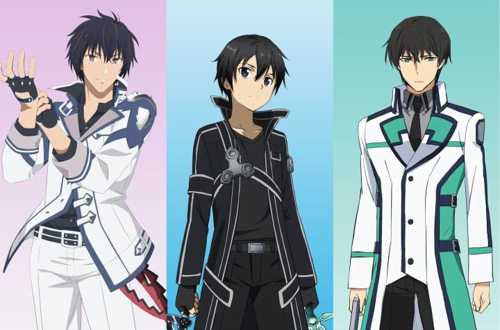 """Who Is The Strongest"" Campaign Launched Between Kirito (Sword Art Online), Shiba Tatsuya (Irregular At Magic High School), Anos Voldigord (Misfit Of Demon King Academy)."